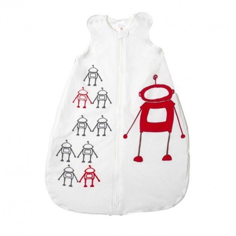 Gunamuna Gunapod Cotton Dreams Wearable Blanket- Robot- Small