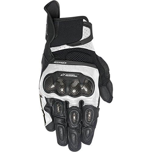 Alpinestars SP-X Air Carbon Men's Street Motorcycle Gloves - Black/White / Medium