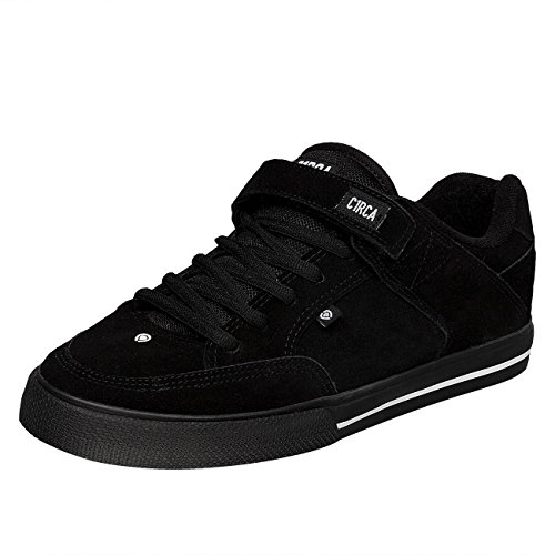CIRCA scarpe 205 Vulc nere black/black/white skateboard shoes (9.5 US / 42.5 EU)
