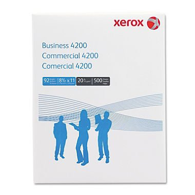 Xerox 4200 Business Multipurpose White Paper, 92 Bright, 8-1/2 X 11, 10 Reams/Carton (XER3R2047)