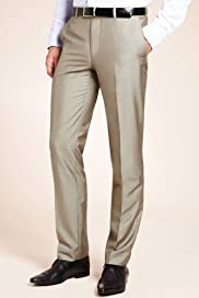 Limited Collection Super Slim Fit Flat Front Trousers [T15-1182-S]