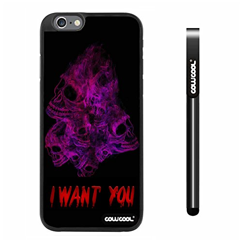 Cowcool® Apple Iphone 6 Plus 5.5 Inch Case Hard Pc Multicolour Color Skull With Smoke With Black Shell Single Layer Protective Case (#5)