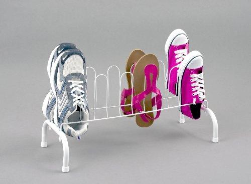 Ltd Schuhständer pulverbeschichtet für 6 Paar weiß