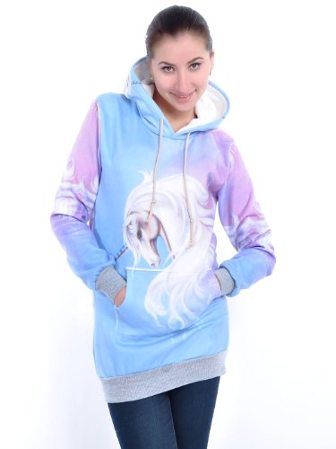 Anna-Kaci S/M Fit Multicoloured Fantastical Unicorn