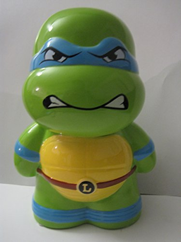 Teenage Mutant Ninja Turtles Leonardo Ceramic Piggy Bank, Leo Coin Bank, Tmnt Coin Deposit - 1