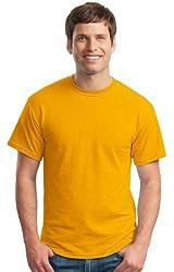 Gildan Men's Moisture Wicking Crewneck T-Shirt, Gold