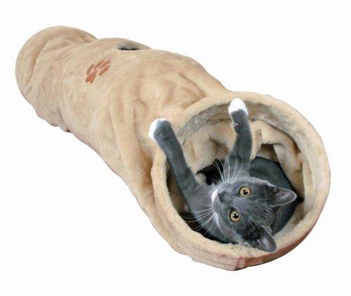 Trixie 43001 Tunnel gioco peluche 25 cm / 125 cm Beige