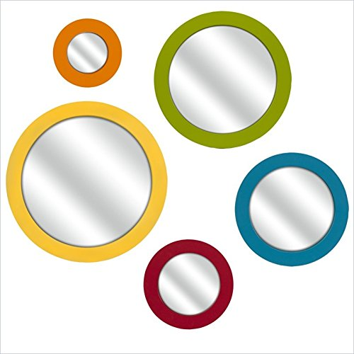 Imax Emlyn Round Bright Color Wall Mirror front-169640