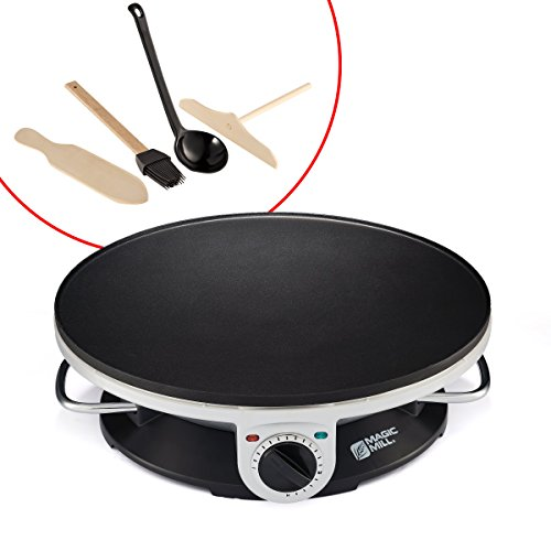 "Lowest Price! Magic Mill 13"" Professional Electric Crepe Maker & Griddle, Non-stick Cooking..."