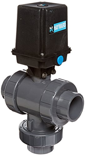 Hayward Eautn120Ste 2-Inch Eautn Series Actuated 3-Way True Union Ball Valve With Threaded Epdm Seal
