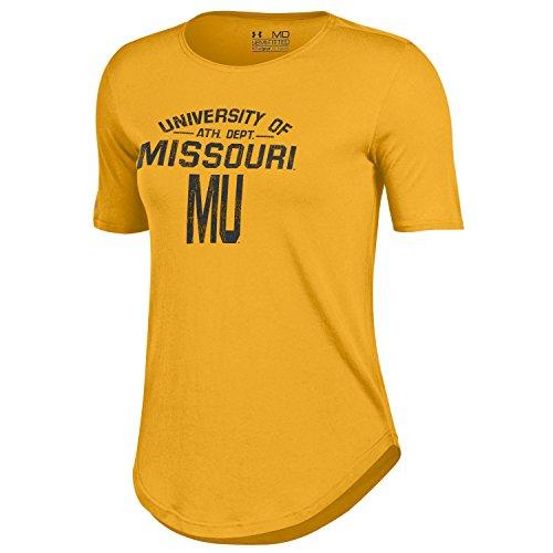 NCAA Missouri Tigers Women's 60 40 Tee, Gold, Small