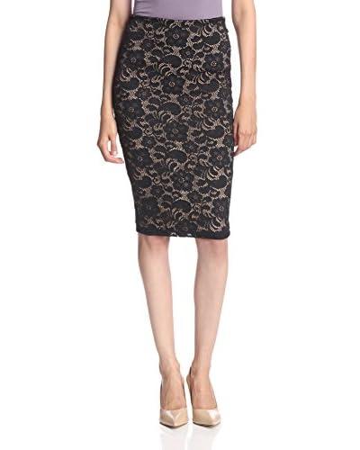David Lerner Women's Lace Pencil Skirt