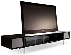 alphason yatai series black tv stand for up to 55 inch kitchen home. Black Bedroom Furniture Sets. Home Design Ideas