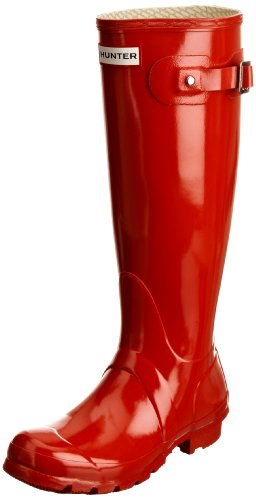 Hunter Unisex-Adult Hunter Original Gloss Pillar Box Red Wellington Boot W23616 4 UK
