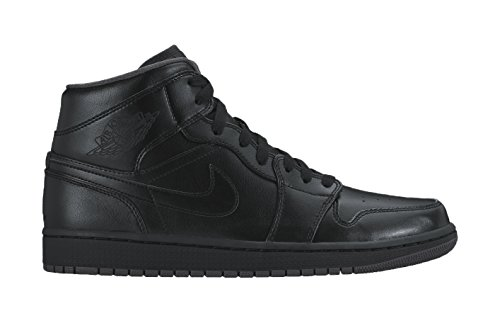 nike-jordan-mens-air-jordan-1-mid-black-black-dark-grey-basketball-shoe-10-men-us