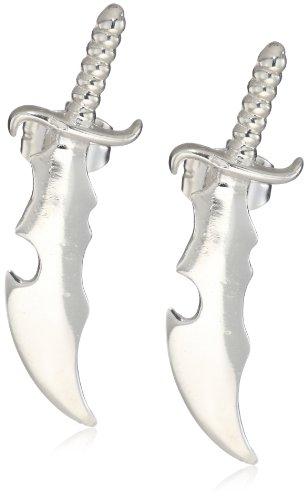 HAN CHOLO Silver Dagger Stud Earrings