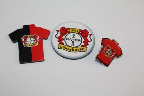 Bayer Leverkusen Fanset 3 teilig Trikot Pin , Magnet,Trikotmagnet Anstecker Bundesliga