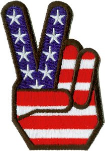 Application Peace Fingers Patch