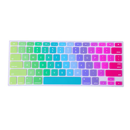 Hde Metallic Finish Silicone Rubber Keyboard Skin For Macbook And Macbook Pro (Rainbow)
