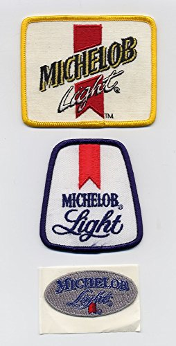michelob-brewing-company-michelob-light-set-of-three-embroidered-beer-patches