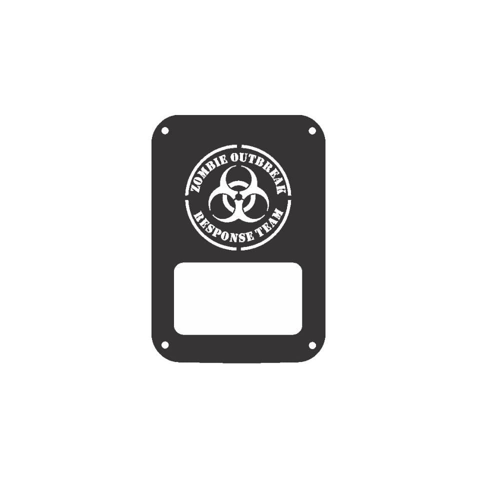 JeepTails Zombie Outbreak Response Team   Jeep JK Wrangler (2007 Present) Tail Lamp Covers   Black   Set of 2