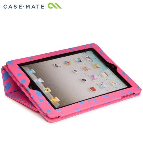 Case-Mate 日本正規品 iPad Retinaディスプレイモデル (第4世代) / iPad (第3世代) / iPad 2 対応 Slim Stand Case Printed Coated Canvas, Lipstick Pink Ocelot スタンド機能つき ブックタイプ スリムスタンド ケース 「コート キャンバス」 リップスティック ピンク/オセロット CM020406