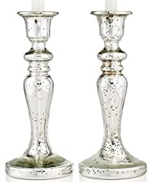 Martha Stewart Collection Mercury Glass Candle Holders