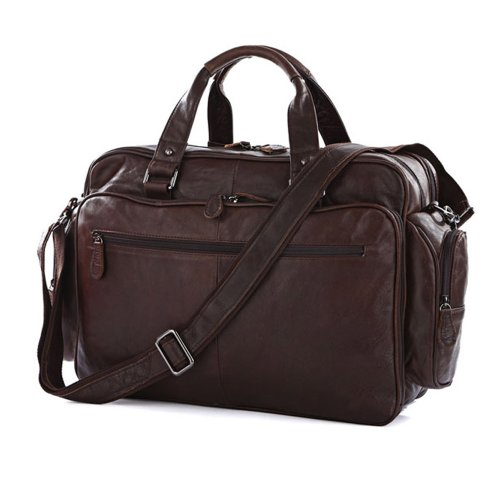 Estarer Vintage Genuine HANDMADE Leather Laptop Bag Messenger Bag Large Handbag Shoulder Bag for Work Travel