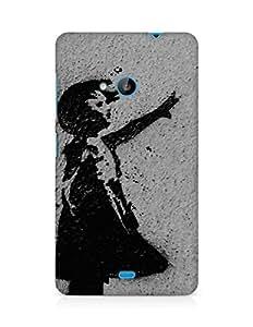 Amez designer printed 3d premium high quality back case cover for Microsoft Lumia 535 (Love Generation)