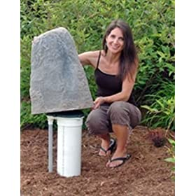 "Artificial Stone Well Cover (Fieldstone) (23""H x 14""W x 15""D)"