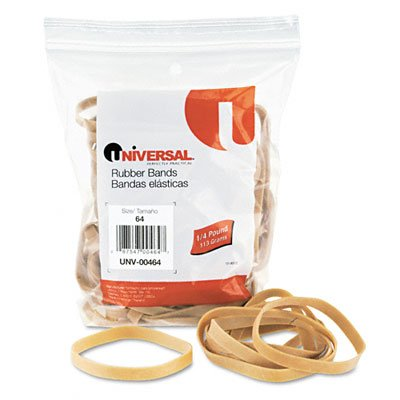 Universal 00464 64-Size Rubber Bands (88 per Pack)