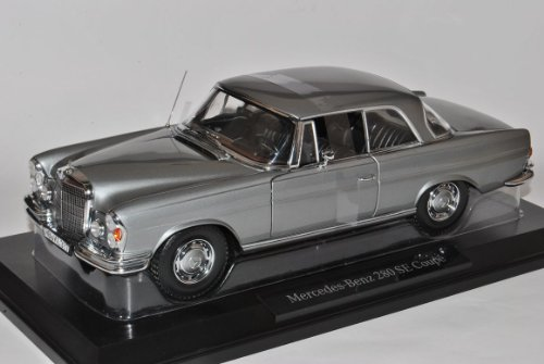 Mercedes-Benz S-Klasse 280SE SEB SEC Coupe Grau W111 1965-1972 1/18 Norev Modell Auto