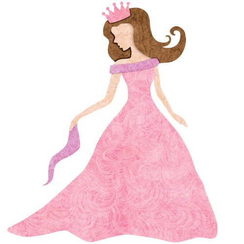 Princess Decal Sticker For Princess Room Decor (Brown Hair/Fair Skin) front-970066