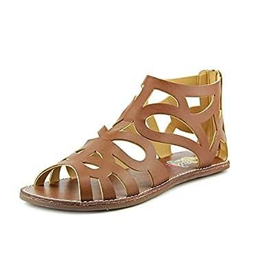 Amazon.com: Rachel Shoes Big Girls Brown Cut Out Detailing Back Zipper