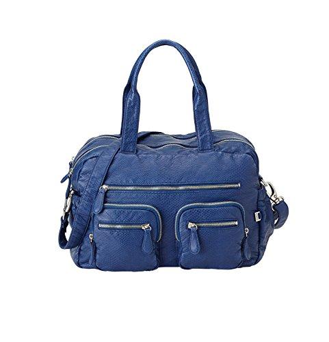 OiOi Faux Lézard Carry All Dark Bleu