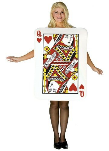 Playing Card Queen of Hearts Costume - Adult Costume