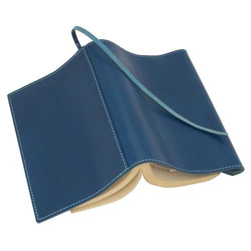piccino ピッチーノ ブックカバー文庫サイズ国産 革イタリアンナッパ A3NL ブルー