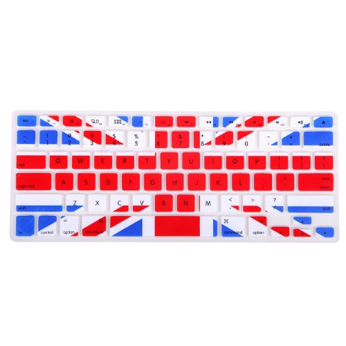 HDE Silicone Rubber Keyboard Skin for MacBook Pro (Non-Retina) (UK Flag)