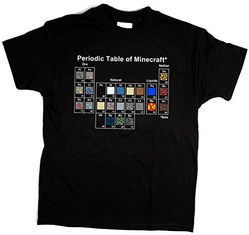 Con-la-tabla-peridica-Youth-Minecraft-camiseta-para-hombre