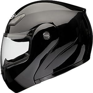 Shox Bullet Flip Front Motorcycle Helmet XS Gloss Black