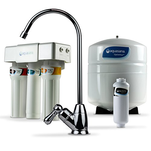 Aquasana AQ-RO-3.56 OptimH2O Reverse Osmosis Fluoride Water Filter, Chrome (Water Heavy Metals Testing compare prices)