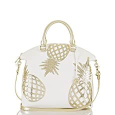 Large Duxbury Satchel<br>Gold Del Pina