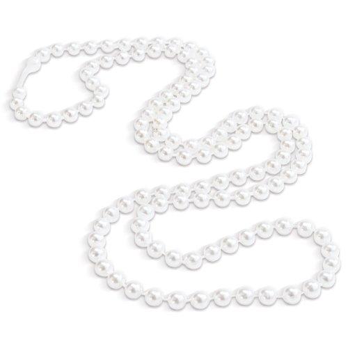 2 Dozen (24) ~ White Pearl Necklaces - Halloween ~ Birthday ~ Party Favor