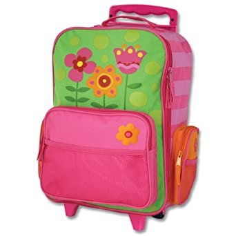 Stephen Joseph Little Girls'  Rolling Luggage Flower, Green, One Size