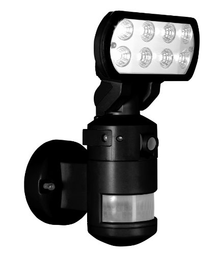 Nightwatcher Robotic Security Light With Camera-Led (Black)