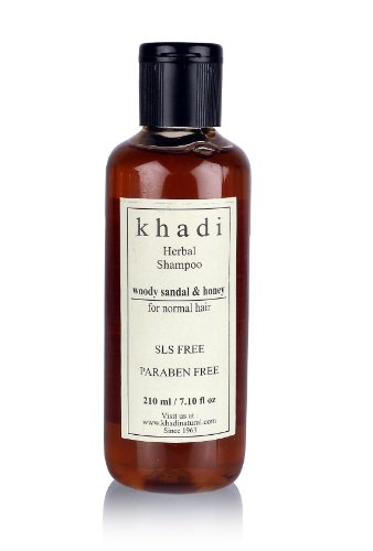 Khadi Woody Sandal & Honey Herbal Shampoo Sls & Paraben Free (For Normal Hair) 210Ml.