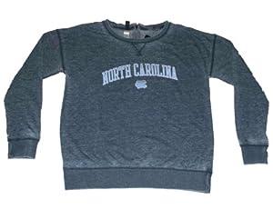 North Carolina Tar Heels Gear for Sports Women Gray Zip Back Sweatshirt (M) by Gear for Sports