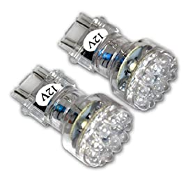TuningPros LEDDRL-3157-W24 Daytime Running Light LED Light Bulbs 3157, 24 LED White 2-pc Set