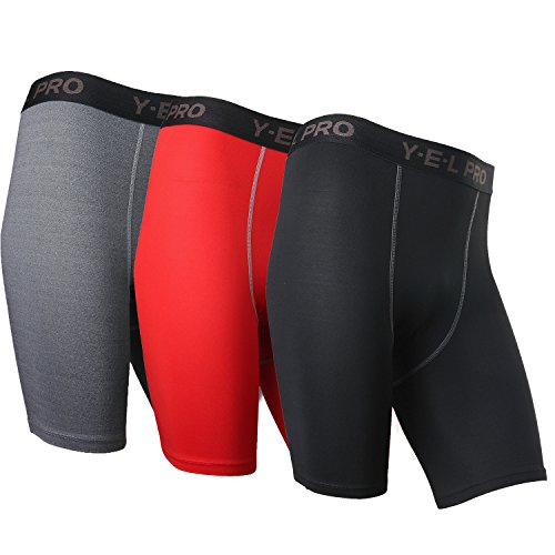 Neleus Men's Performance Shorts 3 Pack,Black,Grey,Red,US M,Aisa Tag L (H And M Clothing Men compare prices)
