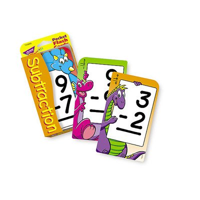 Subtraction Pocket Flash Cards - 1